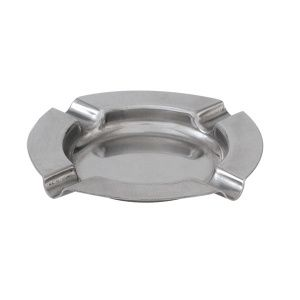 ASHTRAY S/STEEL 125MM FLAT ROUND