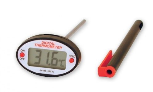THERMOMETER DIGITAL OVAL W/CASE