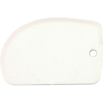 DOUGH SCRAPER WHITE 125X85MM POLYPROP,CI