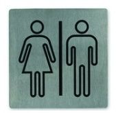 WALL SIGN 18/10 LGE RESTROOM