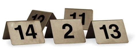 TABLE NUMBER SET 18/10