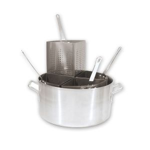 PASTA COOKER SET 4 INS 185X380MM ALUM