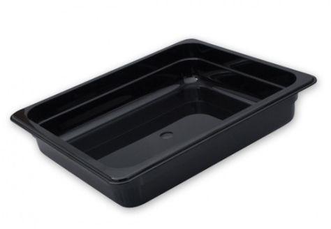 POLYCARB FOOD PAN BLACK GN 1/2