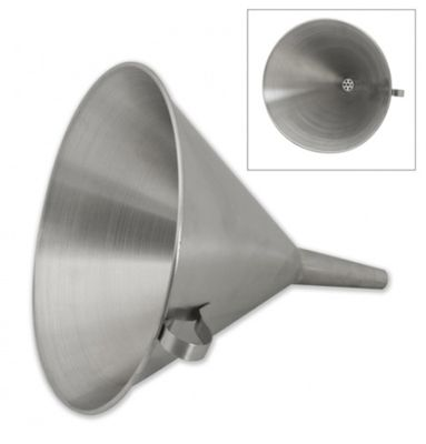 FUNNEL W/STRAINER 18/10