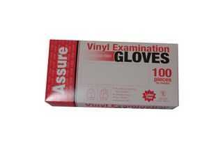 DISPOSABLE GLOVES-VINYL CLEAR