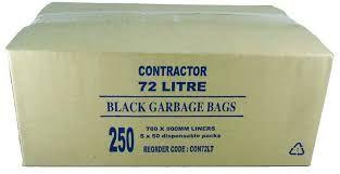 GARBAGE BAGS - BLACK