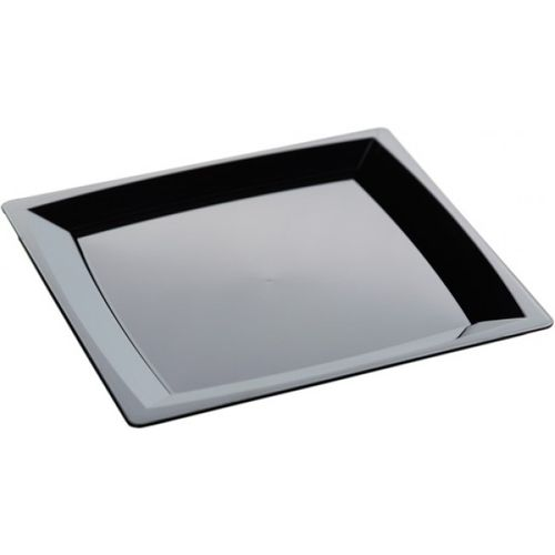 MILAN PLATE X/LARGE BLACK 240 X240 MM -1
