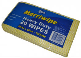 WIPE H/D 45X60CM YELLOW 200/CTN