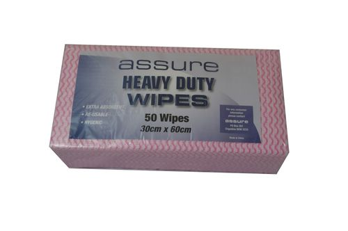ASSURE CUT WIPES RED 40X60CM 250CTN