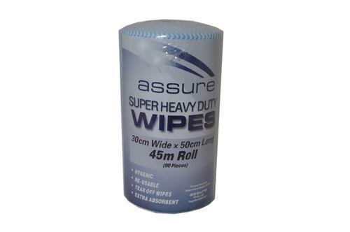 ASSURE H/DUTY WIPER ON A ROLL BLUE 45M
