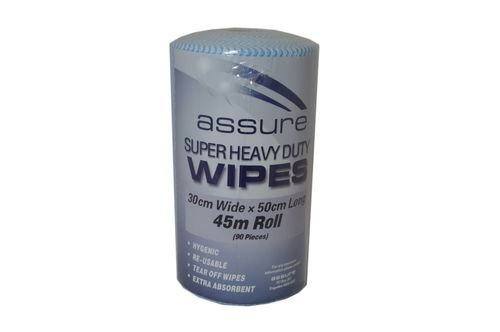 ASSURE CONTRACT WIPER ON A ROLL BLUE 45M