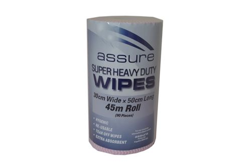 RED ASSURE H/DUTY WIPER ON A ROLL RED45M
