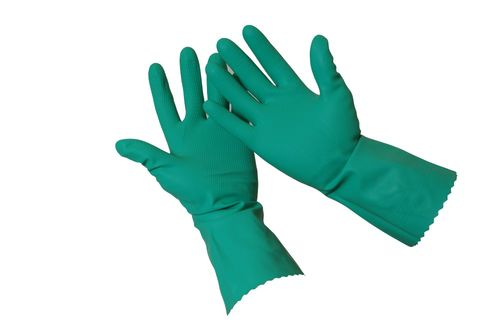 SILVERLINED RUBBER GLOVE GREEN SIZE 8 PR