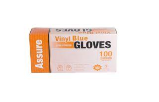VINYL GLOVE L/POWDER BLUE X/LARGE -100PK