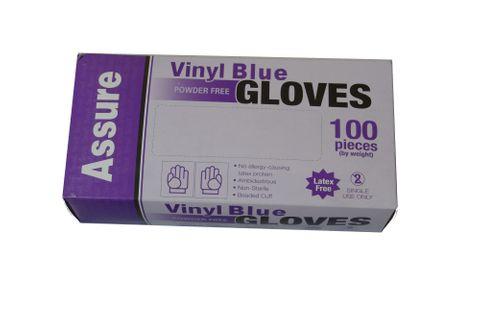 VINYL GLOVE P/ FREE BLUE SMALL -100PKT