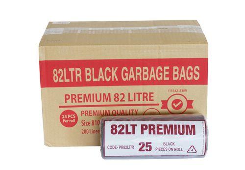 GARBAGE BAG PREMIUM BLACK 82L 200/CTN