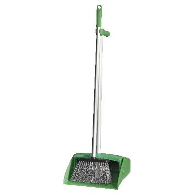 LOBBY DUST PAN SET COMPLETE GREEN