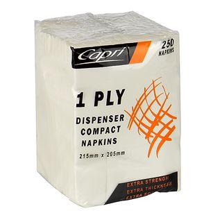 DISP NAPKIN 1PLY WH COMP FOLD 5000/CTN