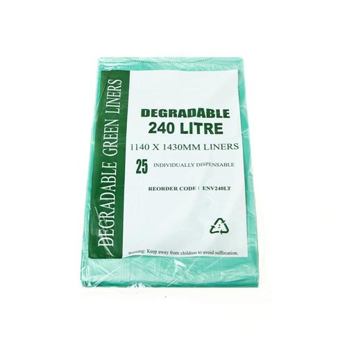 DEGRADABLE GREEN BIN LINER 240LT 100/CTN