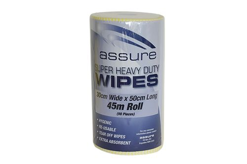 ASSURE H/DUTY WIPER ON A ROLL YELLOW 45M
