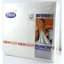 DUNILIN NAPKIN WHITE 40CM 540CTN 186757