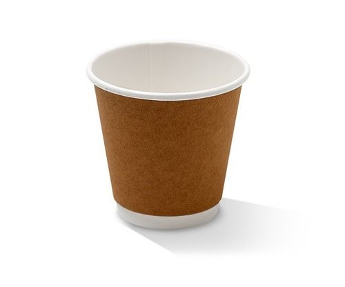 8OZ DW CUP KRAFT ONE-LID-FITS-ALL 500/CT