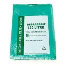 DEGRADABLE GREEN BIN LINER 120LT 200/CTN