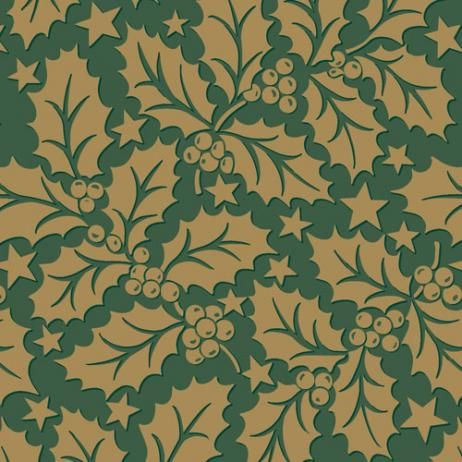 HOLLY GREEN  AIRLAID NAPKIN 40CM 50PKT
