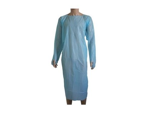 BLUE GOWN FULL LENGTH WITH THUM 100/CTN