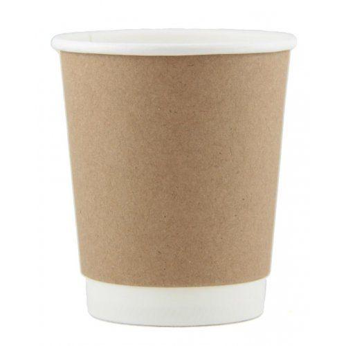 COFFEE CUP DW 8OZ KRAFT 500/CTN