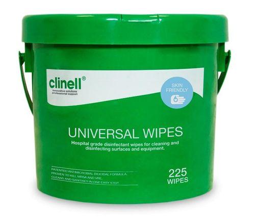 CLINELL UNIVERSAL WIPES 225/BUCKET 4/CTN
