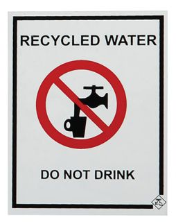 SIGN RECYCLED WATER