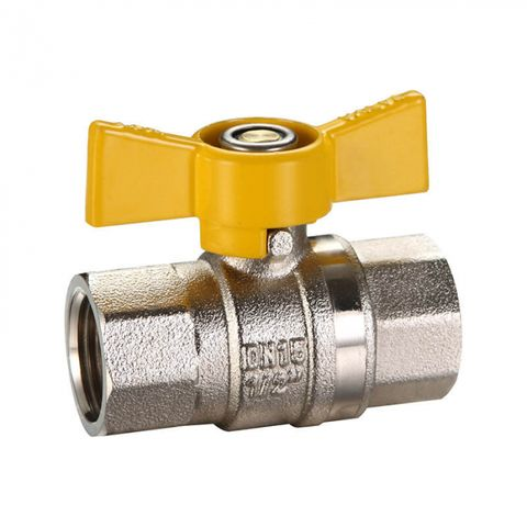 GAS BUTTERFLY HANDLE THREADED