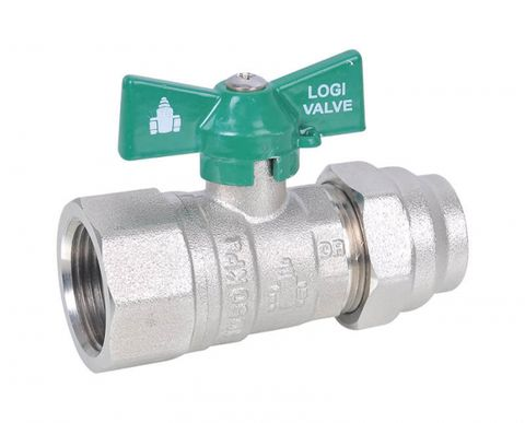 WATER FLARED/FIXED FEMALE BALL VALVE BUTTERFLY HANDLE