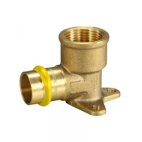 GAS PRESS FIT BRASS FEMALE LUGGED ELBOW