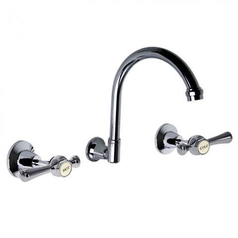 WHITEHALL LEVER WALL SINK SET