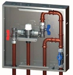 PLUMBED THERMOSTATIC MIXING VALVE