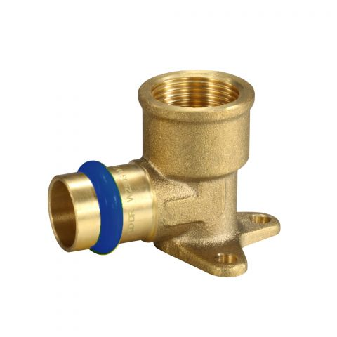 PRESS FIT BRASS WATER FEMALE LUGGED ELBOW