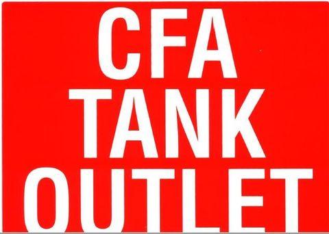 SIGN - CFA TANK WATER