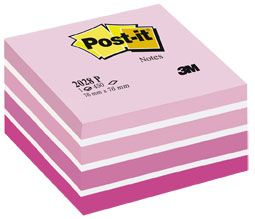 POST IT NOTES MEMO CUBE 2028P PINK