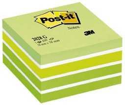 POST IT NOTES MEMO CUBE 2028G GREEN