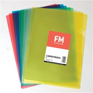 FM L-SHAPED POCKETS A4 ASSORTED PKT/10