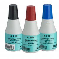 STAMP INK NORIS 210 RED 25ML OIL BASED