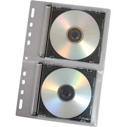 CD/DVD BINDER SHEETS FELLOWES PKT/10