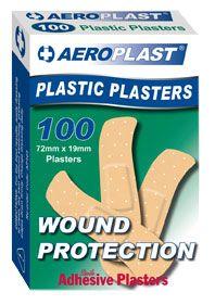 AEROPLAST PLASTIC PLASTERS PKT/100