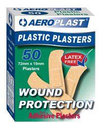 PLASTIC PLASTERS AEROPLAST/BANDAID PK50
