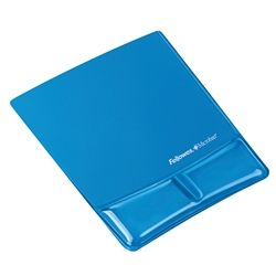 FELLOWES MOUSE PAD/WRIST SUPPORT BLUE