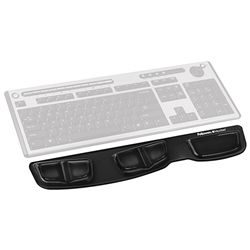 KEYBOARD GEL PALM SUPPORT FELLOWES BLACK