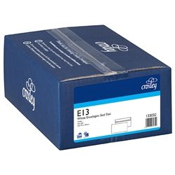 CROXLEY ENVELOPES E13 WHITE/PL S/E BX500