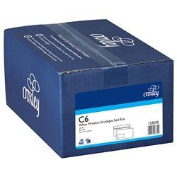 CROXLEY ENVELOPES C6 W/WINDOW S/E BX500